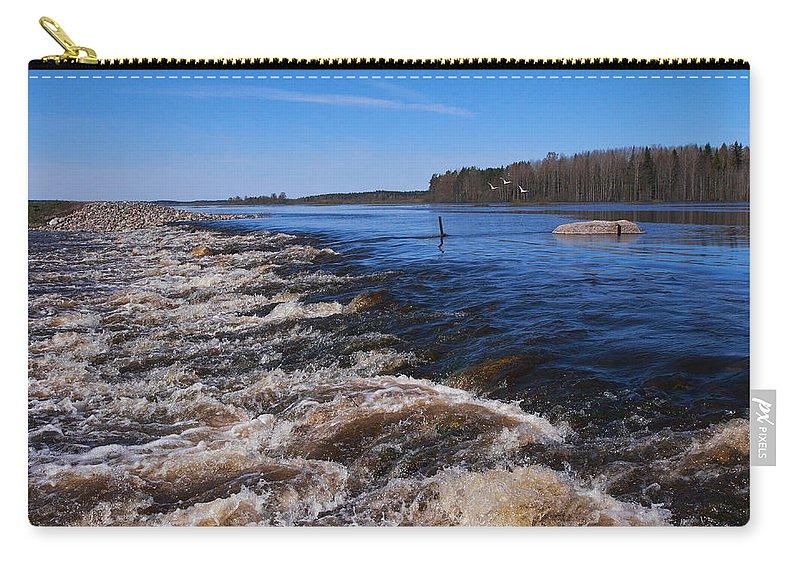 Lehtokukka Carry-all Pouch featuring the photograph Puurijarvi by Jouko Lehto