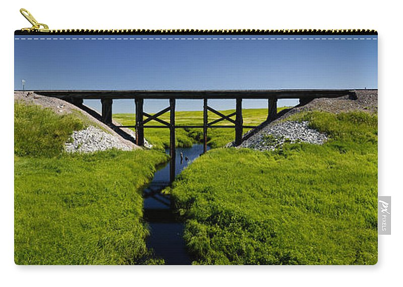 Americas Carry-all Pouch featuring the photograph Railroad Trestle by Roderick Bley