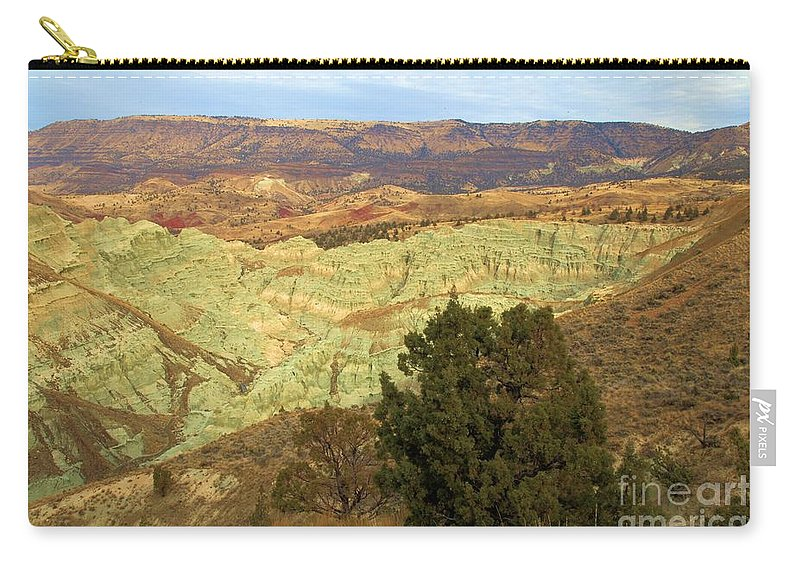 John Day Fossil Beds National Monument Carry-all Pouch featuring the photograph Rainbow Canyon by Adam Jewell