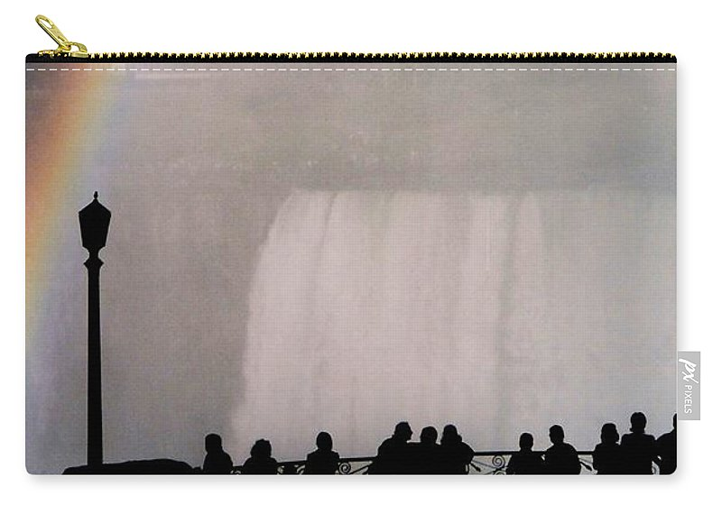 Waterfall Carry-all Pouch featuring the photograph Rainbow Falls by Pharris Art