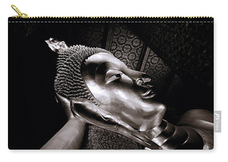 Wat Carry-all Pouch featuring the photograph Reclining Buddha by Shaun Higson