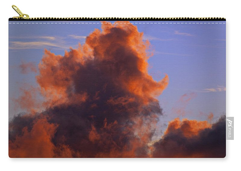 Red Carry-all Pouch featuring the photograph Red Clouds by Garry Gay