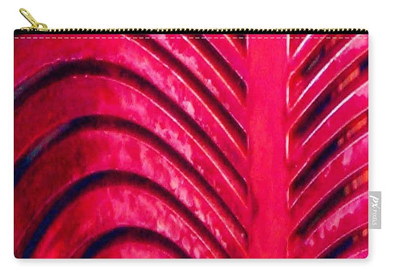 Abstract Carry-all Pouch featuring the photograph Red Ribs by Patricia Blake