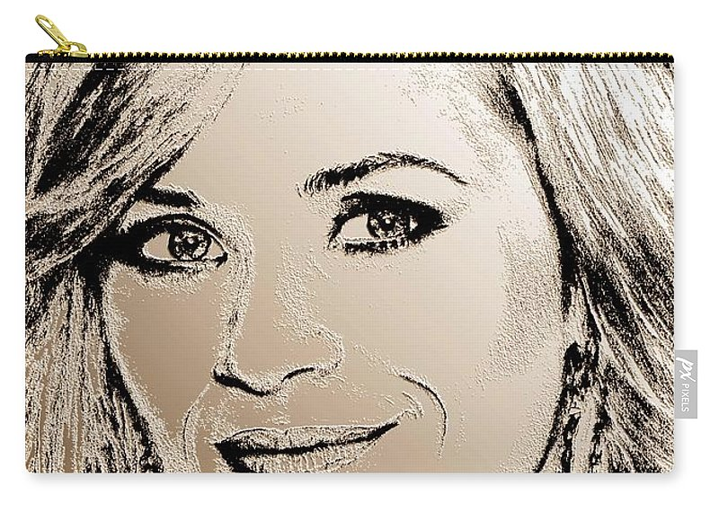 Reese Witherspoon Carry-all Pouch featuring the digital art Reese Witherspoon In 2010 by J McCombie