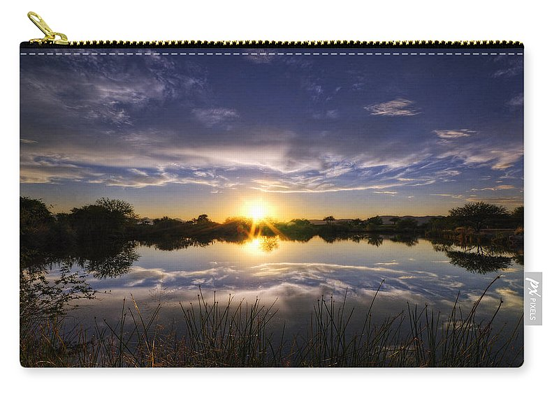 Sunset Carry-all Pouch featuring the photograph Reflections Of Beauty by Saija Lehtonen
