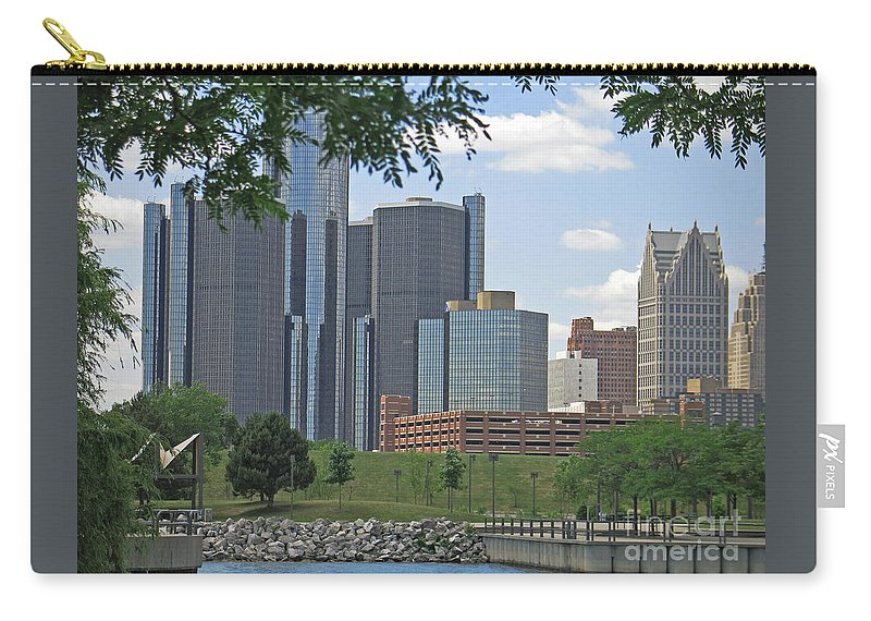 Detroit Carry-all Pouch featuring the photograph Renaissance View by Ann Horn