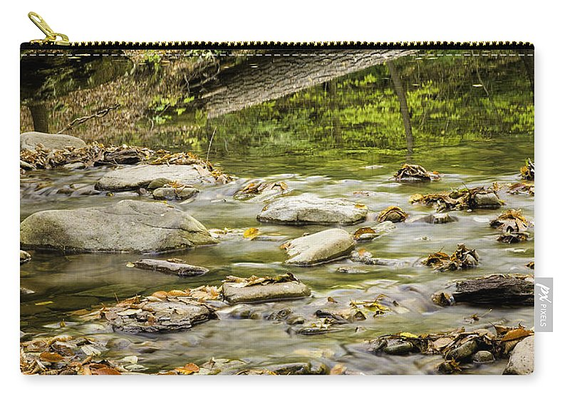 Landscape Carry-all Pouch featuring the photograph River Reflections by Fran Gallogly