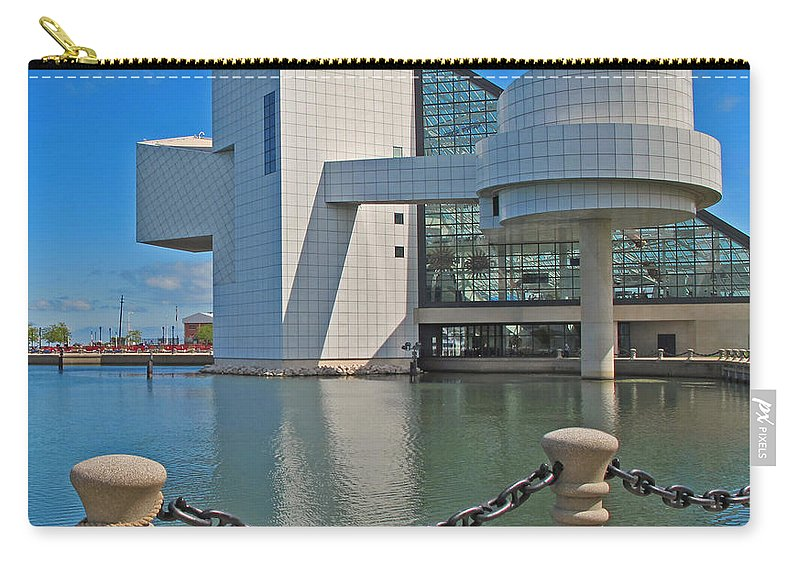 Rock And Roll Hall Of Fame Carry-all Pouch featuring the photograph Rock And Roll Hall Of Fame by Dave Mills