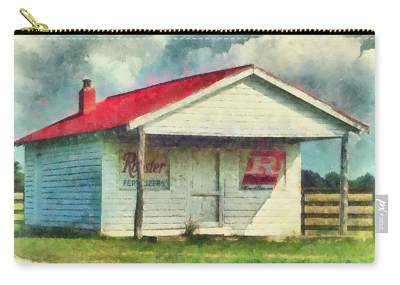 Watercolor Carry-all Pouch featuring the painting Royster Fertilizers by Lynne Jenkins