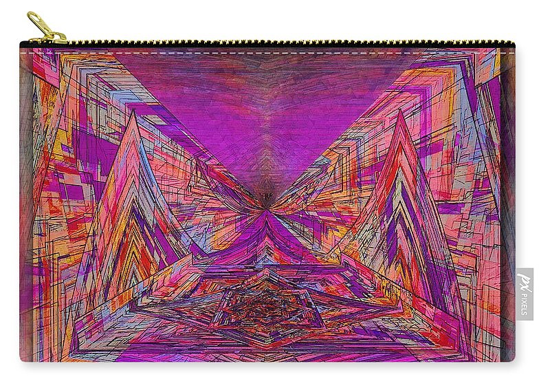 Abstract Carry-all Pouch featuring the digital art Rumblings Within by Tim Allen