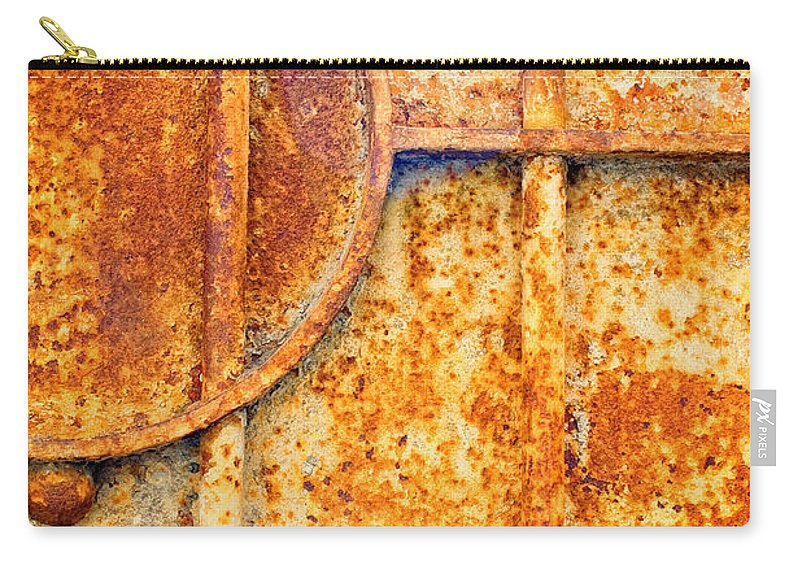 Rusty Carry-all Pouch featuring the photograph Rusty Gate Detail by Silvia Ganora