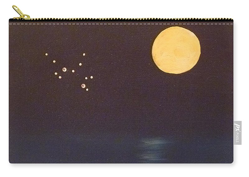 Sagittarius Carry-all Pouch featuring the painting Sagittarius by Alys Caviness-Gober