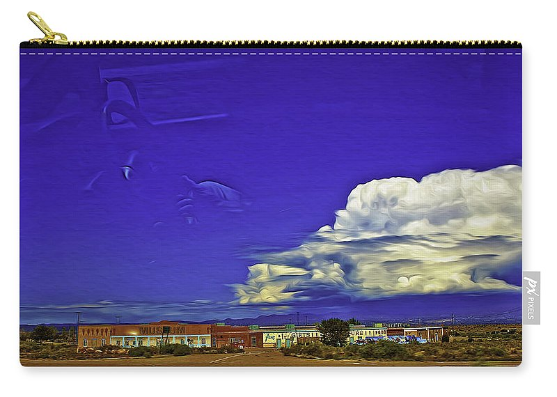 Santa Fe Carry-all Pouch featuring the photograph Santa Fe Drive - New Mexico by Madeline Ellis