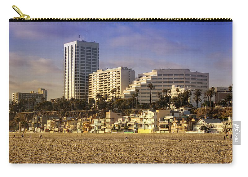 Santa Carry-all Pouch featuring the photograph Santa Monica by Ricky Barnard