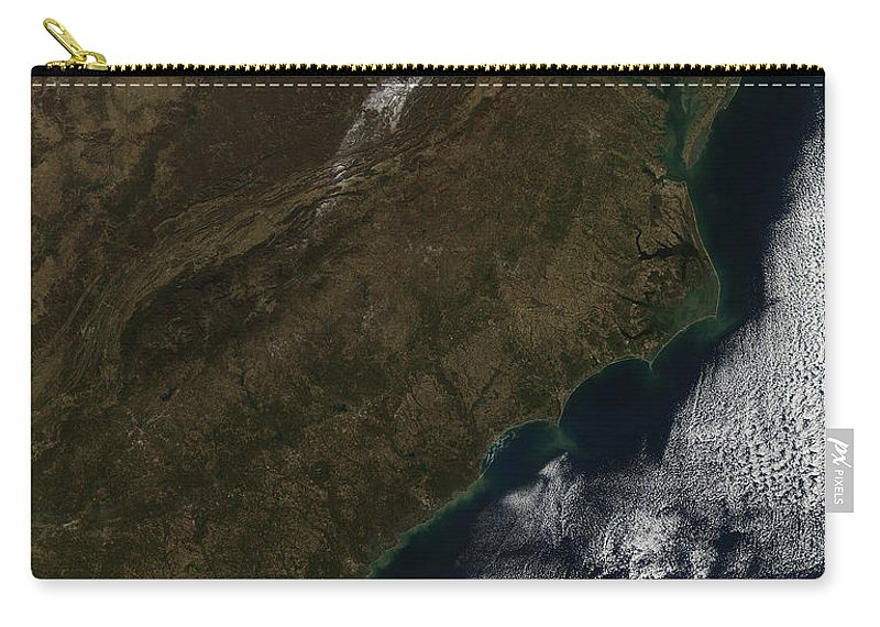 Coast Carry-all Pouch featuring the photograph Satellite View Of The Southeastern by Stocktrek Images