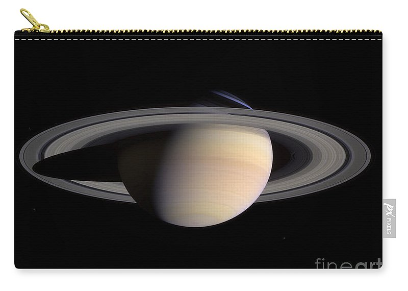 Color Image Carry-all Pouch featuring the photograph Saturn by Stocktrek Images