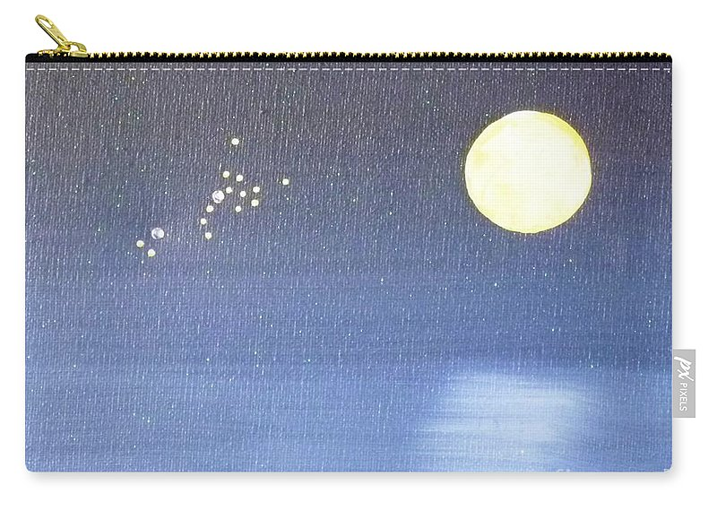 Scorpio Carry-all Pouch featuring the painting Scorpio by Alys Caviness-Gober