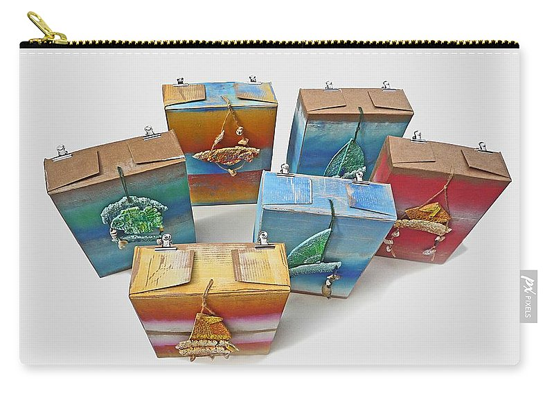 Sculpture Carry-all Pouch featuring the painting Sea Boxes by Charles Stuart