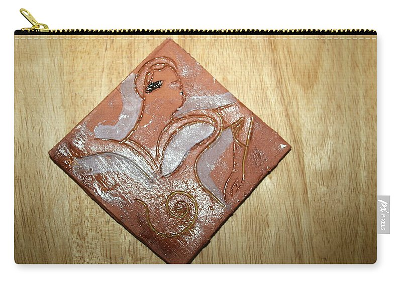 Jesus Carry-all Pouch featuring the ceramic art Sena - Tile by Gloria Ssali