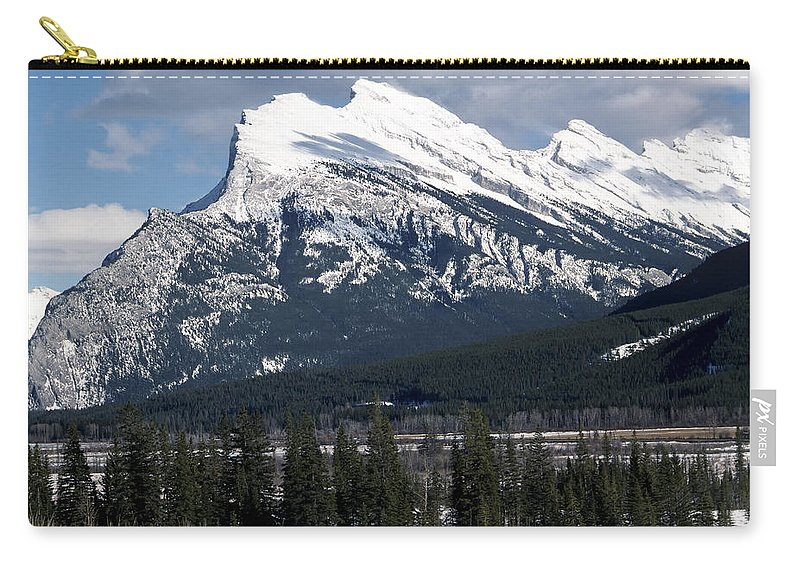 Alberta Carry-all Pouch featuring the photograph Sharp Rundle Peaks by Roderick Bley