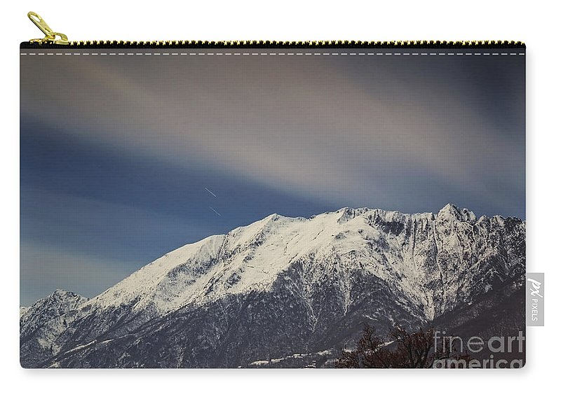 Mountains Carry-all Pouch featuring the photograph Snow-capped Alps by Mats Silvan