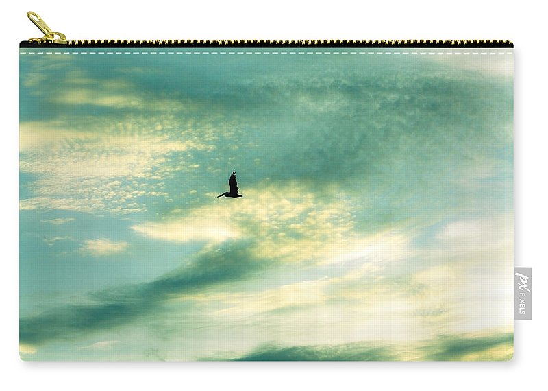 Solo Carry-all Pouch featuring the photograph Solo Flight by Marilyn Hunt