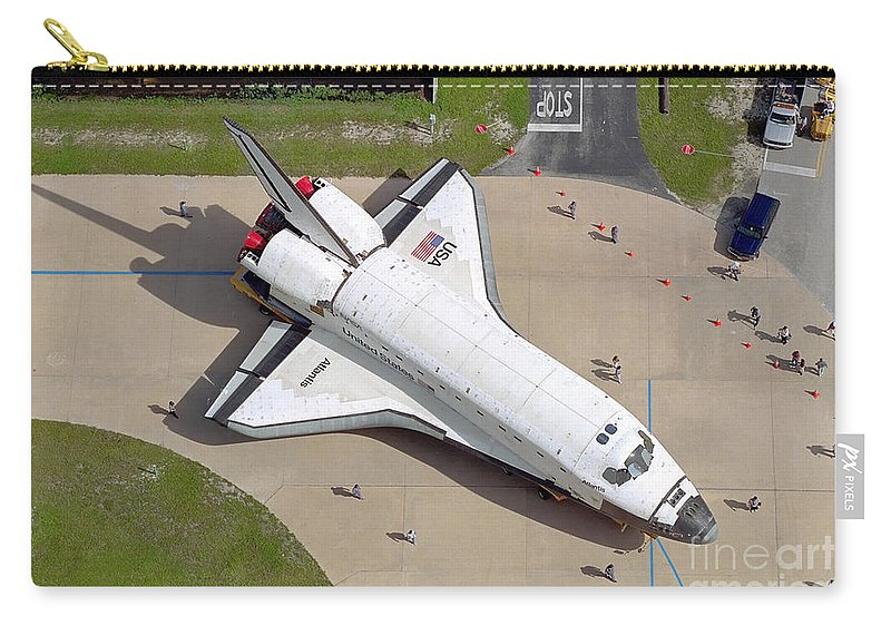 Large Group Of People Carry-all Pouch featuring the photograph Space Shuttle Atlantis by Stocktrek Images