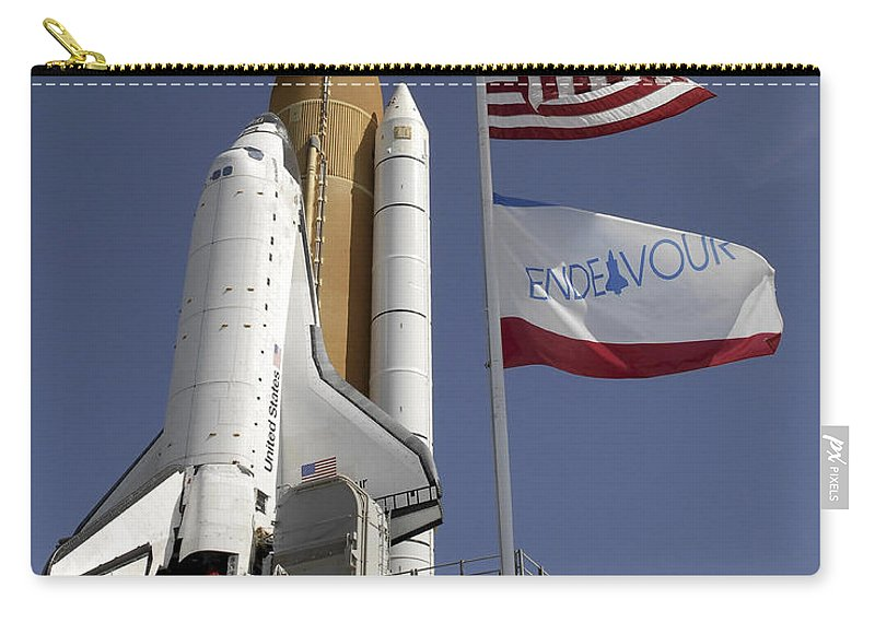 Florida Carry-all Pouch featuring the photograph Space Shuttle Endeavour by Stocktrek Images