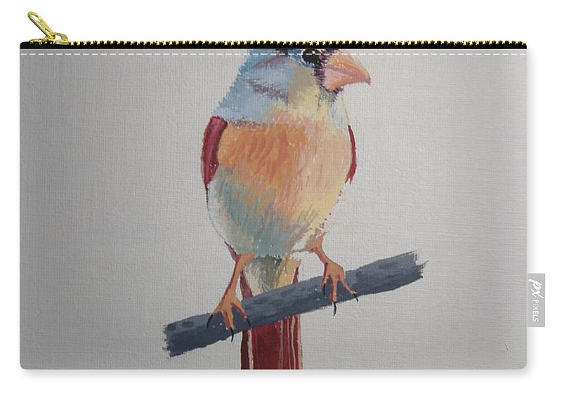 Birds Carry-all Pouch featuring the painting Spring Cardinal by Norm Starks
