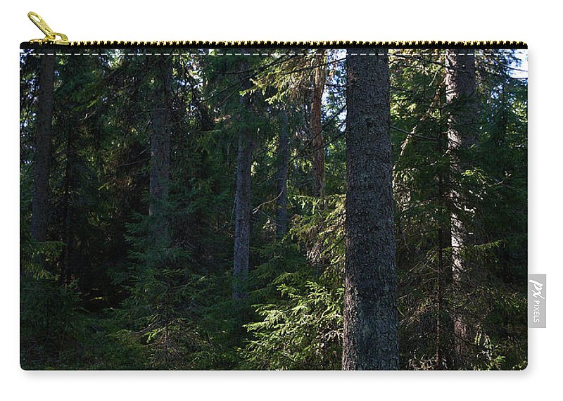 Lehtokukka Carry-all Pouch featuring the photograph Spruces by Jouko Lehto