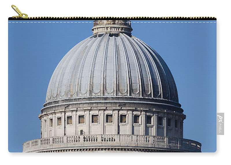 St Paul's Cathedral Carry-all Pouch featuring the photograph St Paul's Cathedral London by David Pyatt