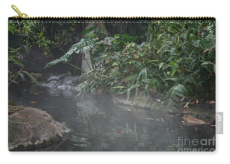 Tropical Plant Carry-all Pouch featuring the photograph Steamy by Susan Herber
