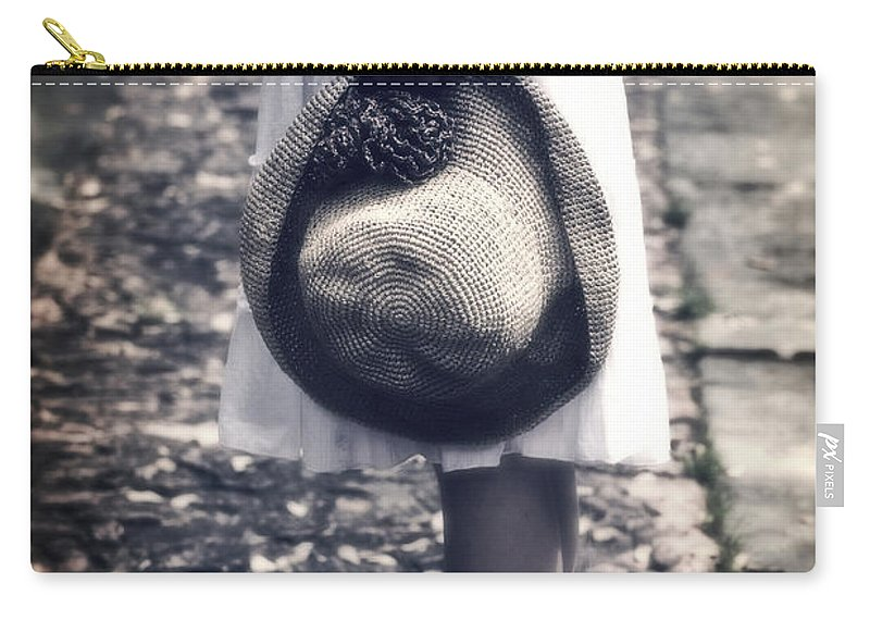 Girl Carry-all Pouch featuring the photograph Straw Hat by Joana Kruse