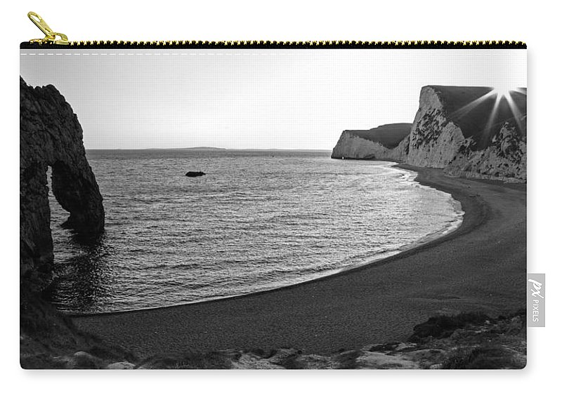 Durdle Carry-all Pouch featuring the photograph Sundown At Durdle Door by Ian Middleton