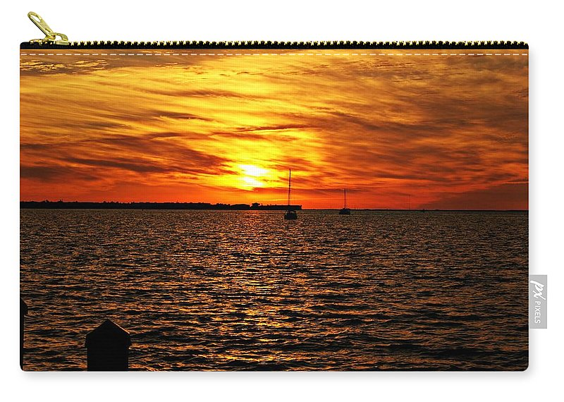 Sunset Carry-all Pouch featuring the photograph Sunset Xxxii by Joe Faherty