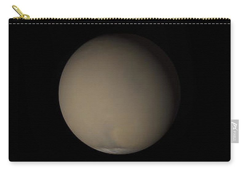 Global Carry-all Pouch featuring the photograph The 2001 Great Dust Storms On Mars by Stocktrek Images