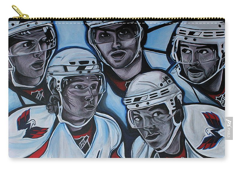 Washington Capitals Carry-all Pouch featuring the painting The Capitals by Kate Fortin