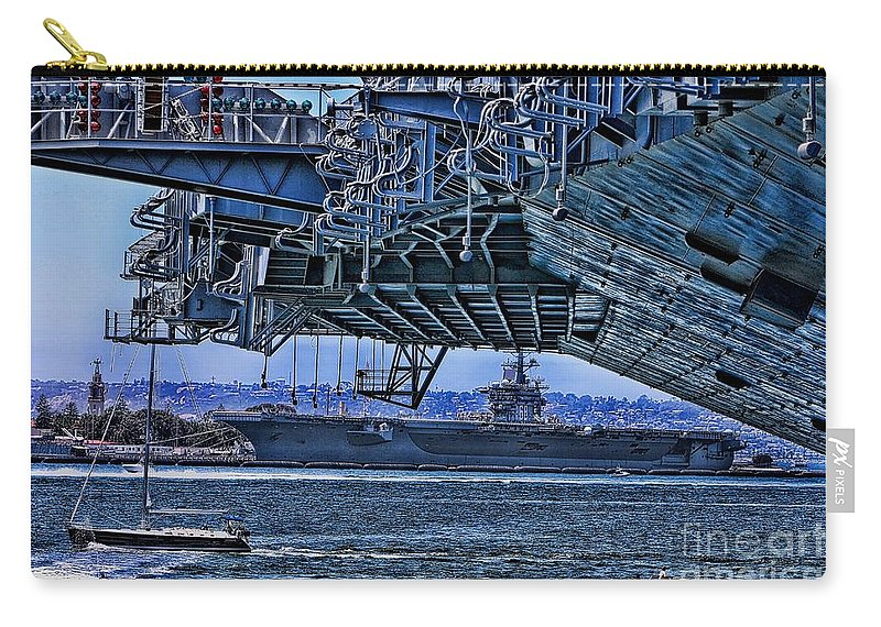 Aircraft Carriers Carry-all Pouch featuring the photograph The Carriers by Tommy Anderson