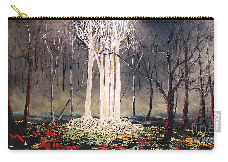 Trees Carry-all Pouch featuring the painting The Congregation by Stefan Duncan