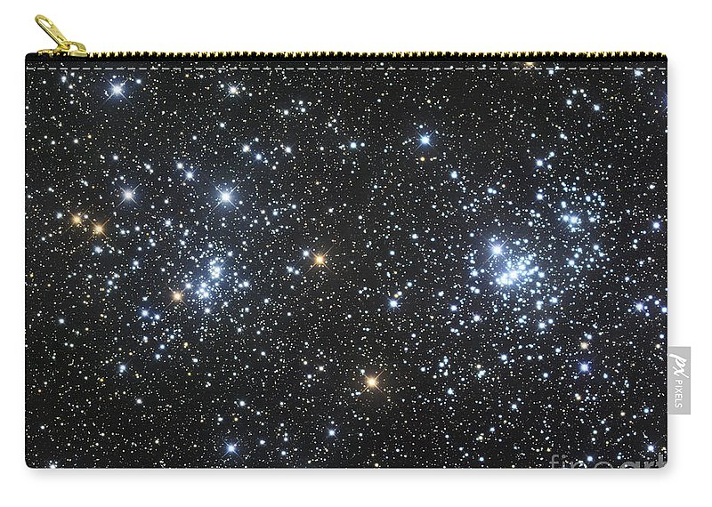 Astronomy Carry-all Pouch featuring the photograph The Double Cluster, Ngc 884 And Ngc 869 by Robert Gendler