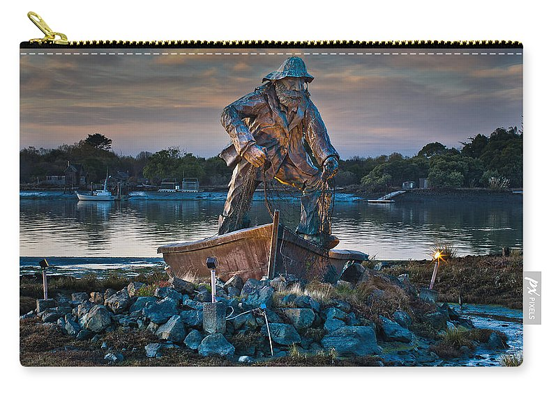 Landmark Carry-all Pouch featuring the photograph The Fisherman by Greg Nyquist