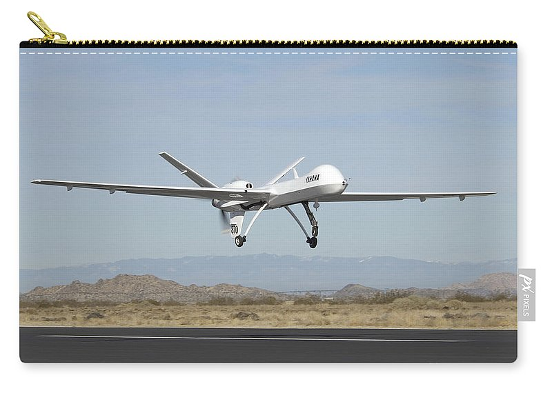 Aeronautics Carry-all Pouch featuring the photograph The Ikhana Unmanned Aircraft by Stocktrek Images