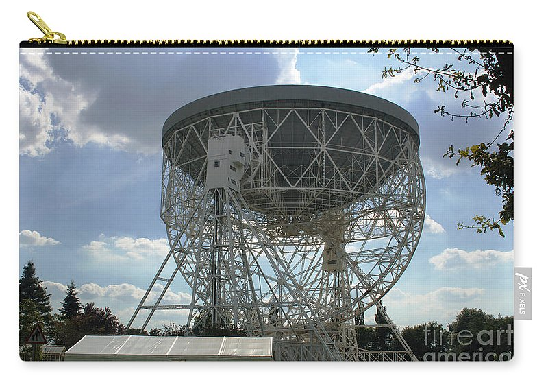 Antenna Carry-all Pouch featuring the photograph The Lovell Telescope At Jodrell Bank by Mark Stevenson