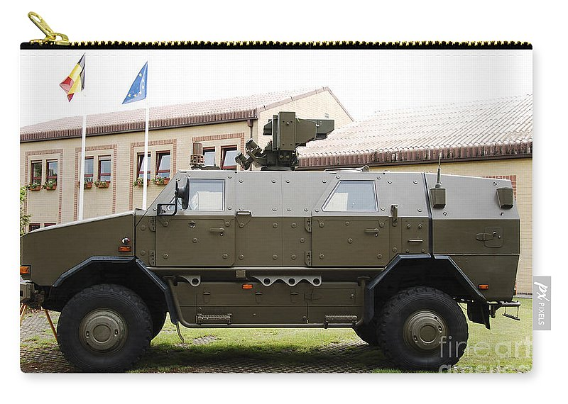 Armament Carry-all Pouch featuring the photograph The Multi-purpose Protected Vehicle by Luc De Jaeger