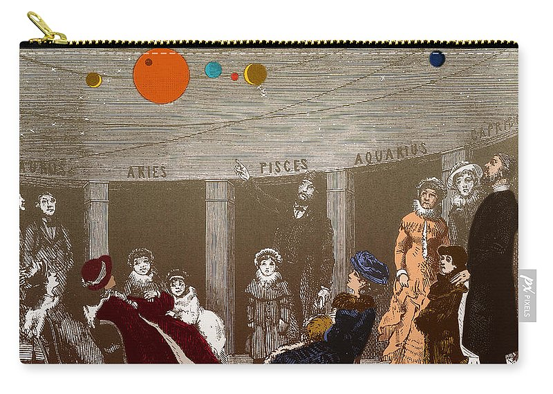 Art Carry-all Pouch featuring the photograph The New Planetarium In Paris, 1880 by Science Source