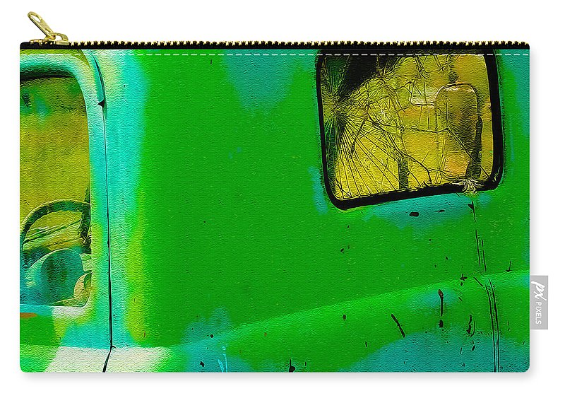 Truck Carry-all Pouch featuring the photograph The Old Dodge by Terry Fiala