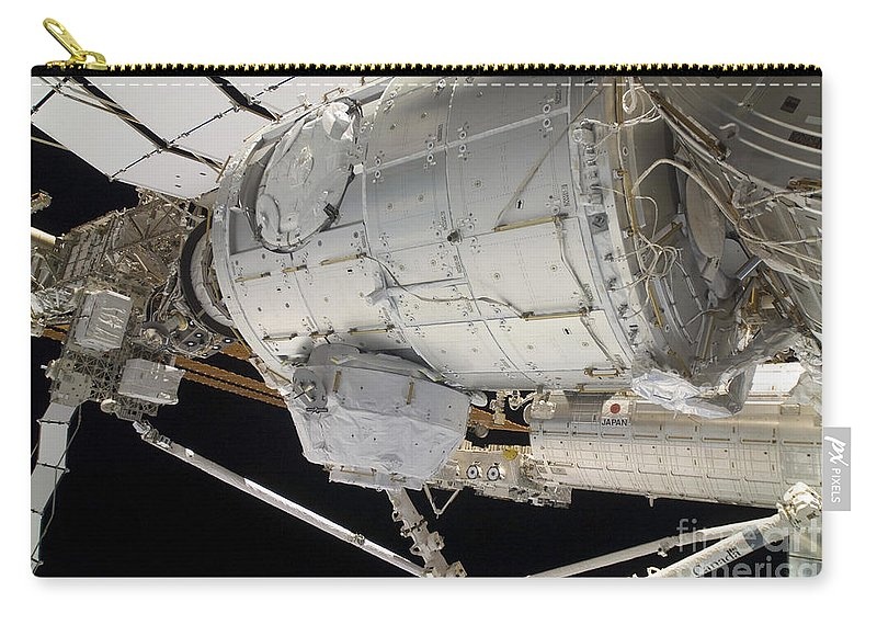 Sts-130 Carry-all Pouch featuring the photograph The Pressurized Mating Adapter 3 by Stocktrek Images