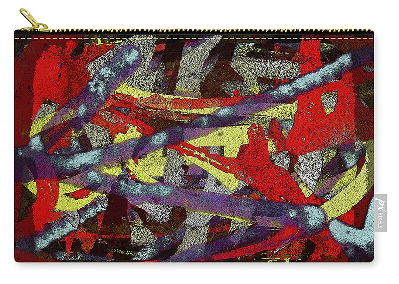 Abstract Carry-all Pouch featuring the digital art The Writing On The Wall 1 by Tim Allen