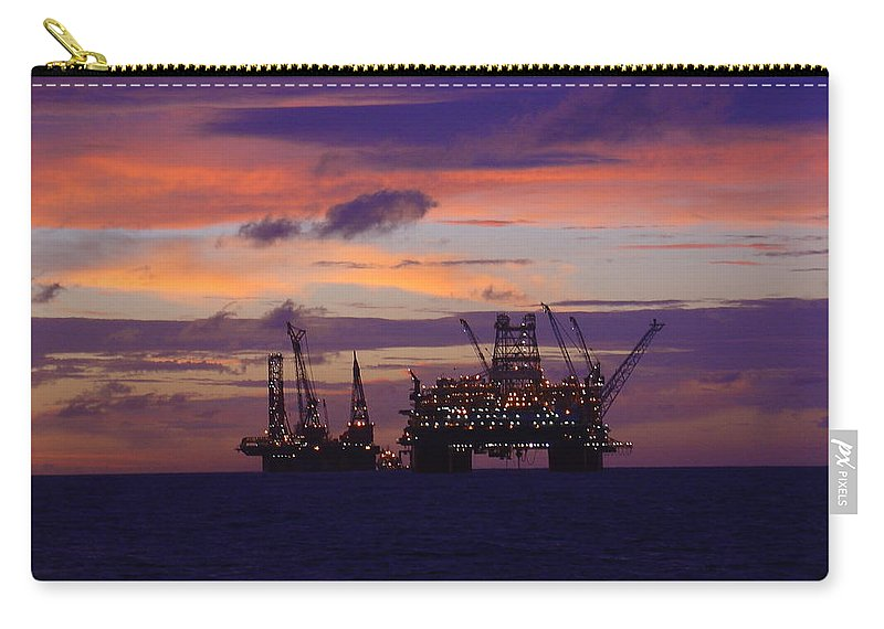 Thunder Horse Carry-all Pouch featuring the photograph Thunder Horse Before The Storm by Charles and Melisa Morrison