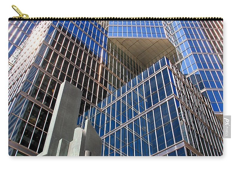 Modern Carry-all Pouch featuring the photograph Toronto Financial Core Buildings by Valentino Visentini